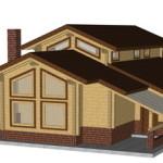 Masivna lesena hiša Aleksandra L 1