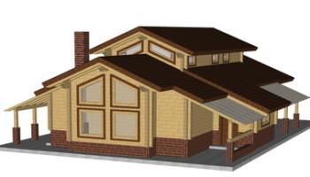 Masivna lesena hiša Aleksandra L
