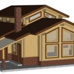 Masivna lesena hiša Aleksandra L 3