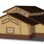 Masivna lesena hiša Aleksandra L 4