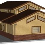 Masivna lesena hiša Aleksandra L 5