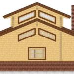 Masivna lesena hiša Aleksandra L 6