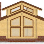 Masivna lesena hiša Aleksandra L 7