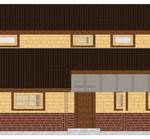 Masivna lesena hiša Aleksandra L 8
