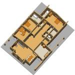 Masivna lesena hiša Aleksandra L 10