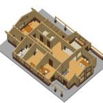 Masivna lesena hiša Aleksandra L 11