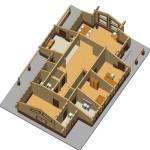 Masivna lesena hiša Aleksandra L 12