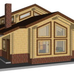 Masivna lesena hiša Aleksandra L 13