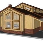 Masivna lesena hiša Aleksandra L 14