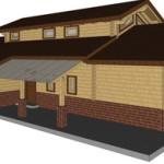 Masivna lesena hiša Aleksandra L 15