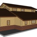 Masivna lesena hiša Aleksandra L 16