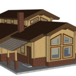 Masivna lesena hiša Aleksandra M 1