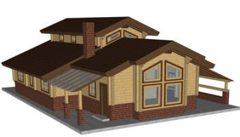 Masivna lesena hiša Aleksandra M