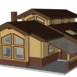Masivna lesena hiša Aleksandra M 3