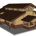 Masivna lesena hiša Aleksandra M 4