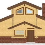 Masivna lesena hiša Aleksandra M 5