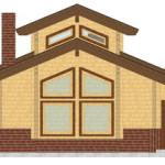 Masivna lesena hiša Aleksandra M 6