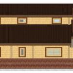 Masivna lesena hiša Aleksandra M 7