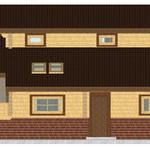 Masivna lesena hiša Aleksandra M 8
