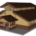 Masivna lesena hiša Aleksandra M 9