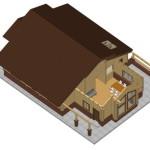 Masivna lesena hiša Aleksandra M 11