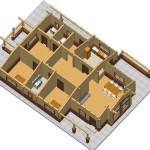 Masivna lesena hiša Aleksandra M 13