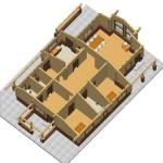 Masivna lesena hiša Aleksandra M 14