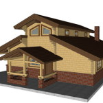 Masivna lesena hiša Aleksandra M 15