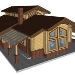 Masivna lesena hiša Aleksandra M 16