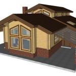 Masivna lesena hiša Aleksandra M 17