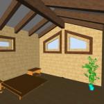 Masivna lesena hiša Aleksandra M 23
