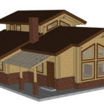 Masivna lesena hiša Aleksandra S 1