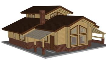 Masivna lesena hiša Aleksandra S