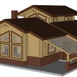 Masivna lesena hiša Aleksandra S 3
