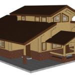Masivna lesena hiša Aleksandra S 4