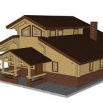 Masivna lesena hiša Aleksandra S 5