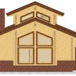 Masivna lesena hiša Aleksandra S 7