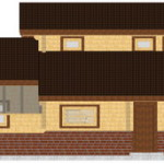 Masivna lesena hiša Aleksandra S 8