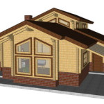 Masivna lesena hiša Aleksandra S 11