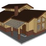 Masivna lesena hiša Aleksandra S 13