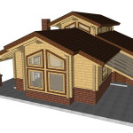 Masivna lesena hiša Aleksandra S 14