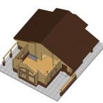 Masivna lesena hiša Aleksandra S 21