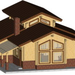 Masivna lesena hiša Aleksandra S 22
