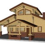 Masivna lesena hiša Aleksandra S 23