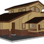 Masivna lesena hiša Aleksandra S 24