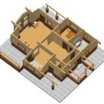 Masivna lesena hiša Aleksandra S 25