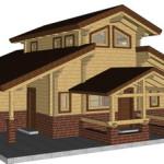 Masivna lesena hiša Aleksandra S 27