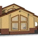 Masivna lesena hiša Aleksandra S 28
