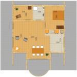 Masivna lesena hiša Andrea 2