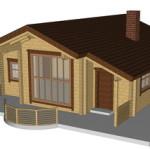 Masivna lesena hiša Andrea 1